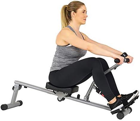 Sunny Health & Fitness SF-RW1205 12 Adjustable Resistance Rowing Machine Rower w/Digital Monitor 8