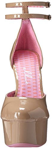 Ellie Shoes Womens 609-Curissa DOrsay Pump Beige Ibwctgpyvx