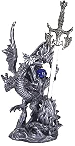 StealStreet SS-G-71216 Dragon Collection with Sword Collectible Fantasy Decoration Figurine