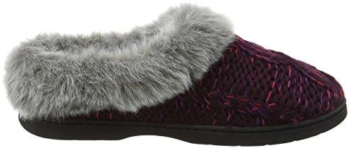 Dearfoams Women's Chunky Novelty Knit Clog with Memorry Foam Low-Top Slippers Purple (Aubergine 00765) 8l46TP