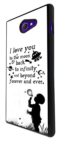 I love you the moon and back to infinity and beyong 208 Design Fashion Trend Sony Xperia M2 Case Back COVER PLASTIC/METAL