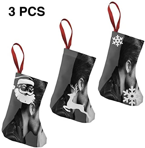 クリスマスの日の靴下 (ソックス3個)クリスマスデコレーションソックス 映画俳優Robert Pattinson クリスマス、ハロウィン 家庭用、ショッピングモール用、お祝いの雰囲気を加える 人気を高める、販売、プロモーション、年次式