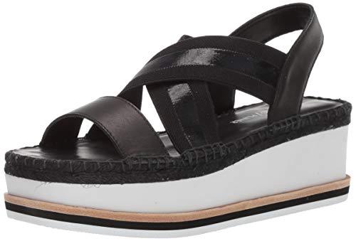 Donald J Pliner Women's AUDREY01EM Wedge Sandal, Black/Clear, 8 B US (Donald J Pliner Black Sandals)