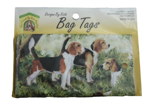 Luggage Tag for Luggage and/or Pet Carrier, by Ruth Maystead - Beagle Dog