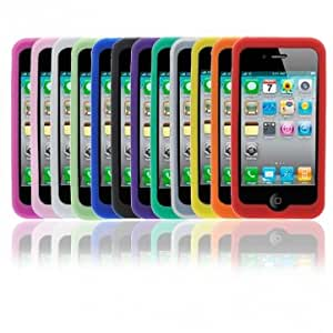 Silicone Case Cover For IPhone 4G Cell Phone --- Color:Purple