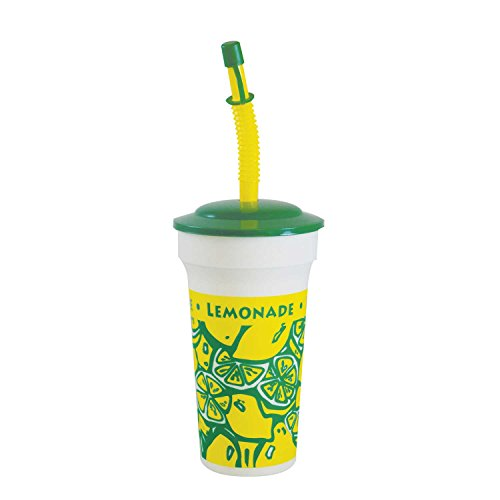 Souvenir Straw - Perfect Stix Souvenir16-10 Tall Souvenir Cup with Lids and Bendable Straws, 16 oz. (Pack of 10 Cups, Straws and Lids) (Pack of 10)