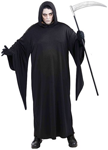 [Forum Novelties Men's Grim Reaper Costume, Black, 3X] (Black Full Cut Robe Costumes)