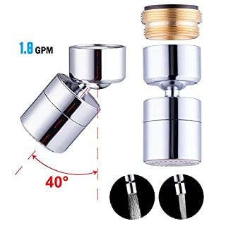 Waternymph 1.8GPM Kitchen Sink Aerator Solid Brass   Big Angle Swivel  Faucet Aerator Dual