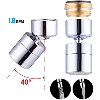 Faucet Aerator With On Off Switch. Waternymph 1 8GPM Kitchen Sink Aerator Solid Brass  Big Angle Swivel Faucet Dual