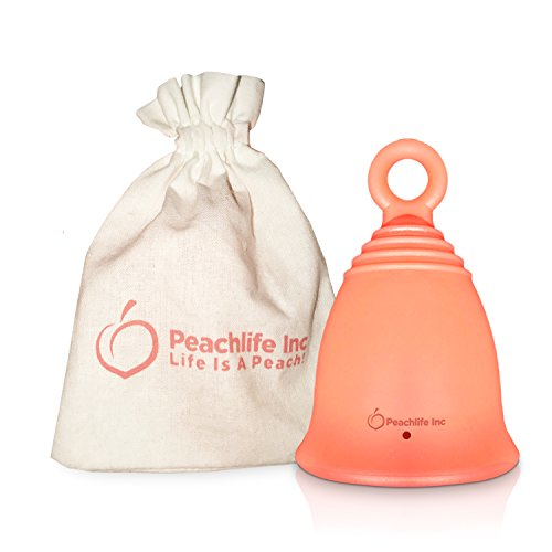 Menstrual Cup with Ring for Easy Removal - 12 Hour No Spill - Pad and Tampon Alternative - FDA...