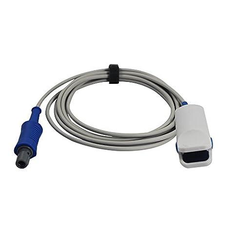 Medke Compatible for Mindray Spo2 Sensor Finger Clip 9.8 ft 6 Pins 40°keyed Connector FDA/CE - Digit Finger Pulse Oximeter