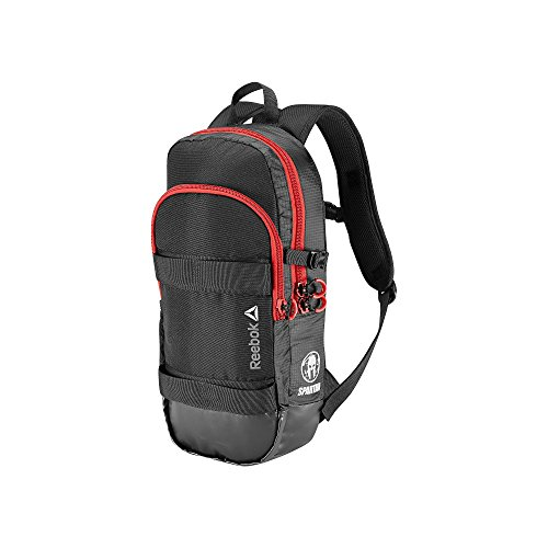 (Reebok Spartan Combo Backpack in Black Grey White and Red)