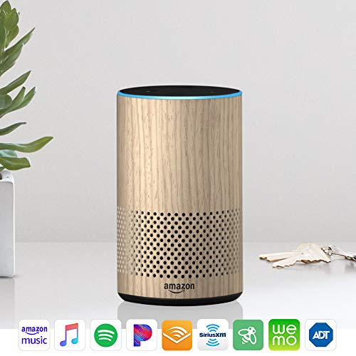 Echo (2nd Generation) - Smart speaker with Alexa - Limited Edition Oak Finish (Best Uses For Echo Dot)