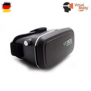 Pasonomi Gafas VR - Gafas de Realidad Virtual 3D VR Compatible con iPhone, Samsung, LG HTC Google y Otros Smartphones