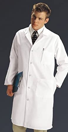 Medline MDT14WHT46TE Mens Full Length Lab Coats, 46 T, White ...