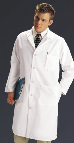 Medline MDT14WHT46TE Length Coats White