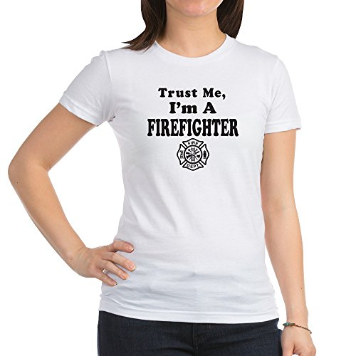 Royal Lion Jr. Jersey T-Shirt Trust Me I'm A Fireman Firefighter - White, Small ()