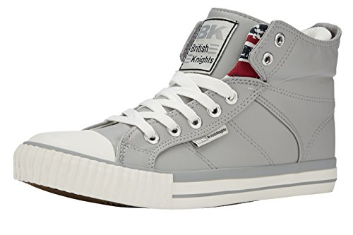 British Knights Herren Roco High-Top Grey/UnionFlag