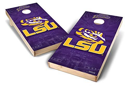 PROLINE NCAA College 2' x 4' LSU Tigers Cornhole Board Set - ()