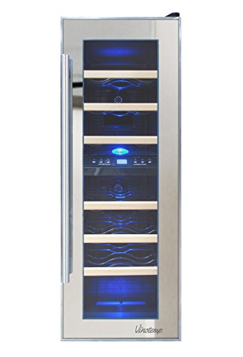 Vinotemp 21 Bottle Dual Zone Thermoelectric Mirrored