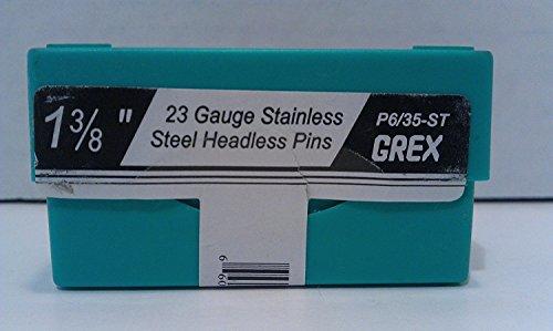 (10.000Count) GREX P6/35-st Headless pines 1–3/8-Inch Acero Inoxidable de calibre 23