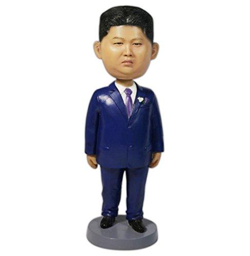 OZUKO Korea President Kim Jong-un Action Figure Bobblehead Statue Bobbling Toys for Home Office Desk Decoration Sculpture Political Gift