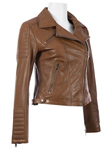Fermeture Cuir Aviatrix A Veste Timber Mode Femme En Asymetrique Veritable Glissiere k014 717IY