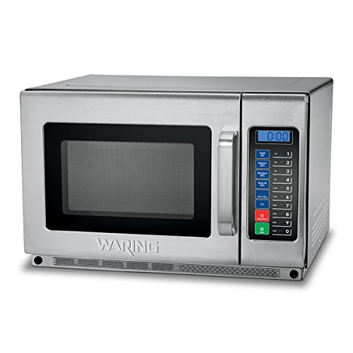 Silver Commercial Microwave (Waring Commercial WMO120 Commercial Microwave Oven, , Silver)