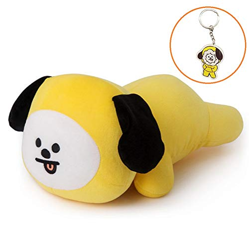 (Hosston Kpop BTS Plush Pillow Cartoon Soft Stuffed Play Doll Toys CHIMMY Cooky KOYA MANG RJ SHOOKY TATA Cute Bolster Pillow Dolls with Free Keychain Best Gift for A.R.M.Y( Style 02-CHIMMY))
