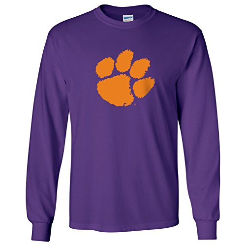 Clemson Tigers Primary Logo Long Sleeve – 3X-Large - - Primary Fashion Logo