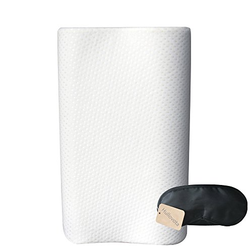 Cervical Pillow Side Sleeper Memory Foam Pillows Contour Chiropractic Pillow for Neck and Shoulder Pain Relief (Beige)