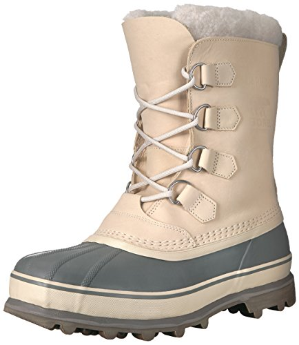 SOREL Men's Caribou Snow Boot, Oatmeal, Quarry, 7 M US