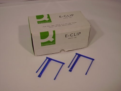 100-Blue-2-Prong-Plastic-Filing-Clips-Strips-Fasteners