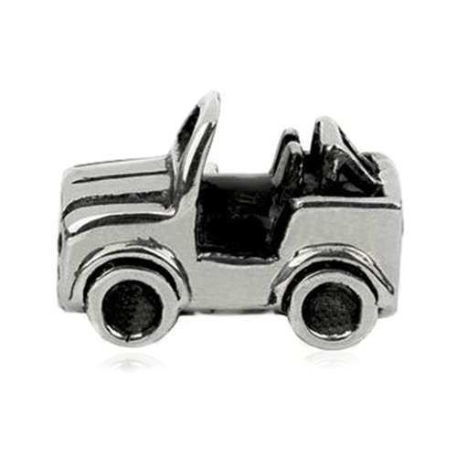Sterling Silver Safari Jeep Bead Charm