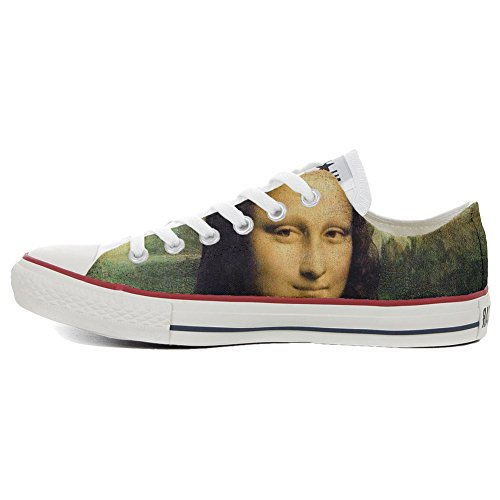 Converse Personalizzate All Star (scarpe personalizzate artigianali) sneakers, unisex-adulto La Gioconda