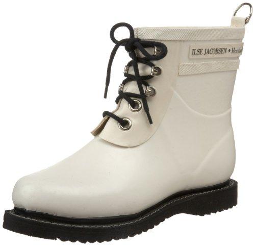 Ilse Jacobsen Damen Gummistiefel Kurz, Rub2, Zapatillas de estar Por Casa Para Mujer blanco (blanco)