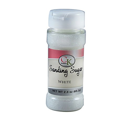 CK Products 2.3oz White Decorating Sanding sugar 3pk
