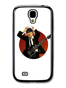 AMAF ? Accessories ACDC Angus Young Illustration with Guitar Showing Horns case for Samsung Galaxy S4