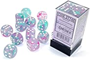 DND Dice Set-Chessex D&D Dice-16mm Nebula Wisteria with White Plastic Polyhedral Dice Set-Dungeons and Dra