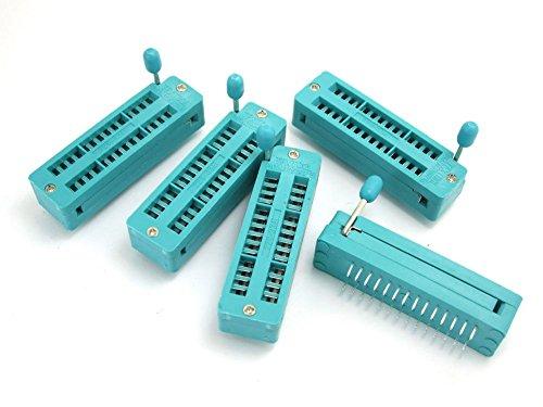 WINGONEER 5PCS Universal 28 Pin Universal Zif Dip Tester IC Test Socket
