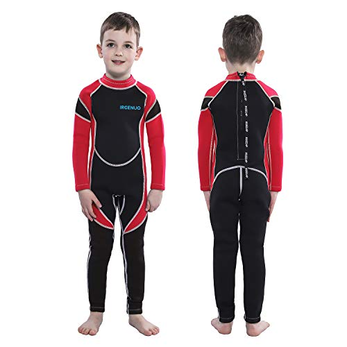 5610c87d2e IREENUO Kids Wetsuit Neoprene 2.5mm Thick Long Sleeve One Piece UV  Protection Sun Protection Sunsuit Wetsuit for Girls Boys