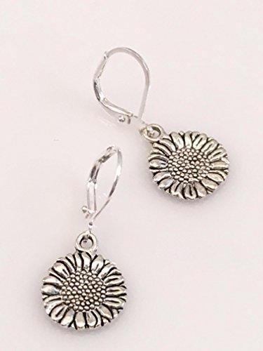 Circle Sunflower Earrings