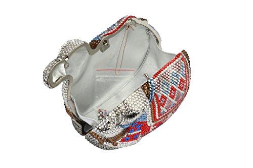 Yilongsheng femmes Camel en forme de cristal diamant de mode Sacs pour la mariée (multicolore)