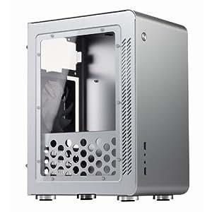 Cooltek U3 Window HTPC Plata carcasa de ordenador - Caja de ordenador (HTPC, PC, Aluminio, Micro-ATX,Mini-ITX, Plata, 1,5 mm)