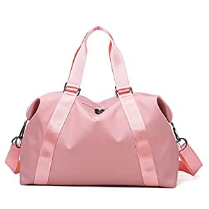 Gym Duffel Travel Bag,Hamkaw Waterproof Travel Weekender Bag Large Yoga Bag for Men Women w/Adjustable Strap, Anti-Theft Metal Zippers, Large Capacity