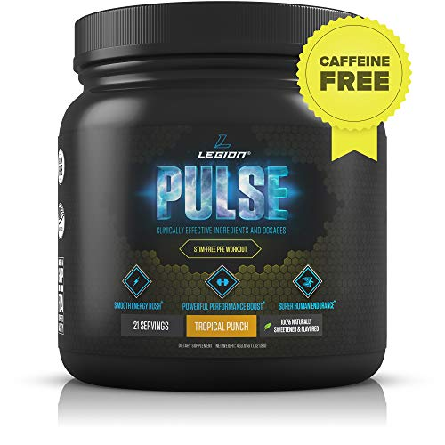Legion Pulse, Best Natural Pre Workout Supplement for Women and Men - Powerful Nitric Oxide Pre Workout, Effective Pre Workout for Weight Loss, (Caffeine Free Tropical Punch) (Best Female Pre Workout)