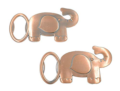 12pcs Elephant Bottle Opener for Wedding Party Favor Souvenir Gift(Copper Tone) ()