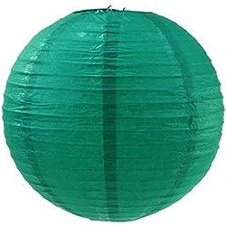 """12"""" Round Paper Lanterns - Emerald Green"""