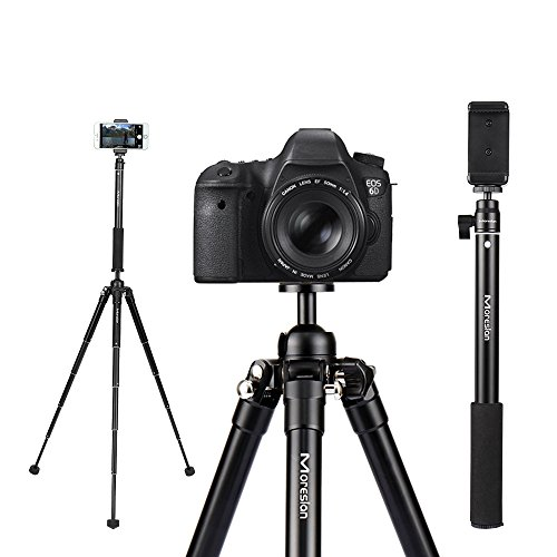 "61"" Travel LightWeight Camera Tripod, Moreslan Aluminum Adju"
