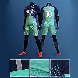 LIANGLIANG Tottenham Maillot de football Maillot de football à manches courtes pour adulte Enfant Costume de compétition uniforme pour homme (3XS-2XL)